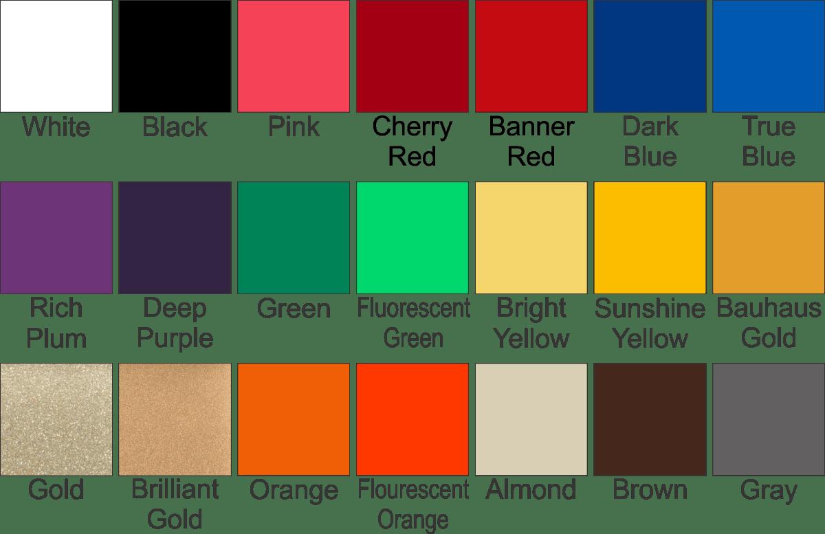 Value Paint Colour Chart >> Glass Tile Paint Colors - Fundraising Brick